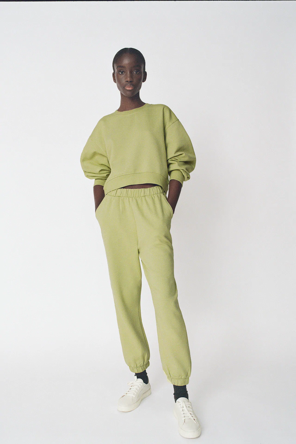 "<h3>Zara</h3><br>You can always count on Zara for an edgy loungewear option. This cool green set is sure to make you stand out in a groutfit crowd.<br><br><em>Shop <strong><a href=""https://www.zara.com/"" rel=""nofollow noopener"" target=""_blank"" data-ylk=""slk:Zara"" class=""link rapid-noclick-resp"">Zara</a></strong> </em><br><br><strong>Zara</strong> Basic Sweatshirt, $, available at <a href=""https://go.skimresources.com/?id=30283X879131&url=https%3A%2F%2Fwww.zara.com%2Fus%2Fen%2Fbasic-sweatshirt-p05584314.html"" rel=""nofollow noopener"" target=""_blank"" data-ylk=""slk:Zara"" class=""link rapid-noclick-resp"">Zara</a><br><br><strong>Zara</strong> Plush Jogging Pants, $, available at <a href=""https://go.skimresources.com/?id=30283X879131&url=https%3A%2F%2Fwww.zara.com%2Fus%2Fen%2Fplush-jogging-pants-p05584319.html"" rel=""nofollow noopener"" target=""_blank"" data-ylk=""slk:Zara"" class=""link rapid-noclick-resp"">Zara</a>"