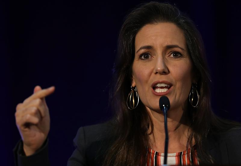 Oakland Mayor Libby Schaaf speaks during the 2016 Cannabis Business Summit & Expo on June 22, 2016 in Oakland. (Justin Sullivan via Getty Images)