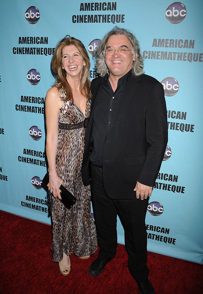 "Joanna Kaye and <a href=""http://movies.yahoo.com/movie/contributor/1800026327"">Paul Greengrass</a> at the 24th American Cinematheque Annual Gala Honoring Matt Damon on March 27, 2010."