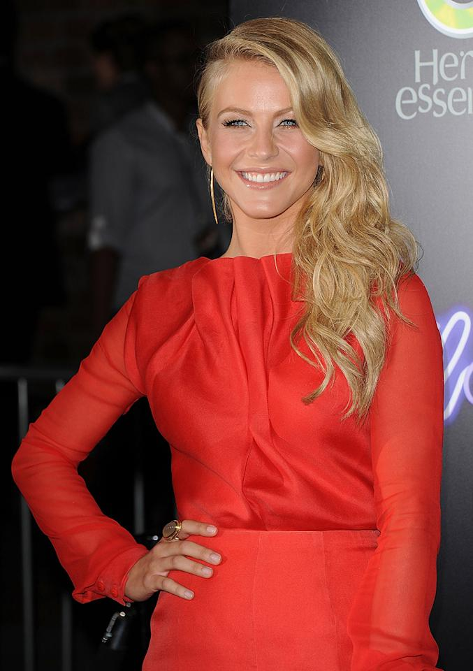 """<a href=""""http://movies.yahoo.com/movie/contributor/1809860021"""">Julianne Hough</a> at the Los Angeles premiere of <a href=""""http://movies.yahoo.com/movie/1810164562/info"""">Footloose</a> on October 3, 2011."""