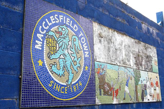 Macclesfield Town FC mosaic display (Credit: Getty Images)