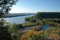 """<p><a href=""""https://www.nps.gov/efmo"""" rel=""""nofollow noopener"""" target=""""_blank"""" data-ylk=""""slk:Effigy Mounds National Monument"""" class=""""link rapid-noclick-resp""""><strong>Effigy Mounds National Monument</strong></a></p><p>This scenic, preserved space highlights the Effigy Mounds created by American Indian tribes into animal shapes.</p>"""