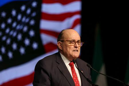 Rudolph Giuliani, former Mayor of New York City, delivers a speech during the 2018 Iran Uprising Summit in Manhattan, New York, U.S., September 22, 2018. REUTERS/Amr Alfiky