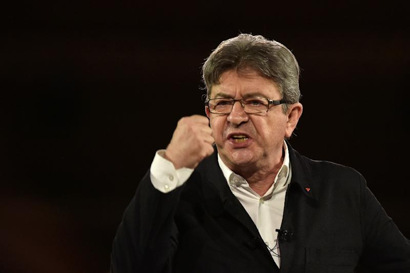 French presidential election candidate for the far-left coalition La France Insoumise Jean-Luc Melenchon has surged in recent polls