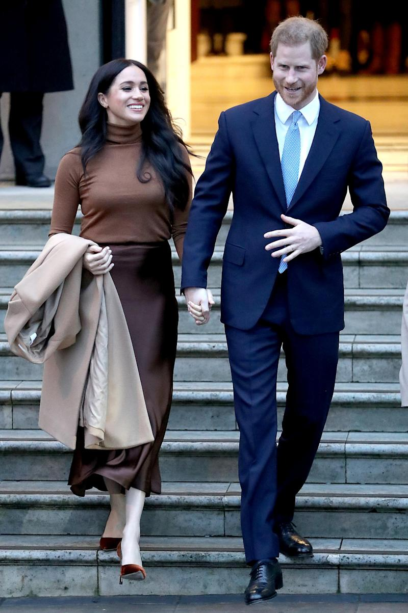 Meghan and Harry are stepping back from their senior roles within the royal family (Getty Images)