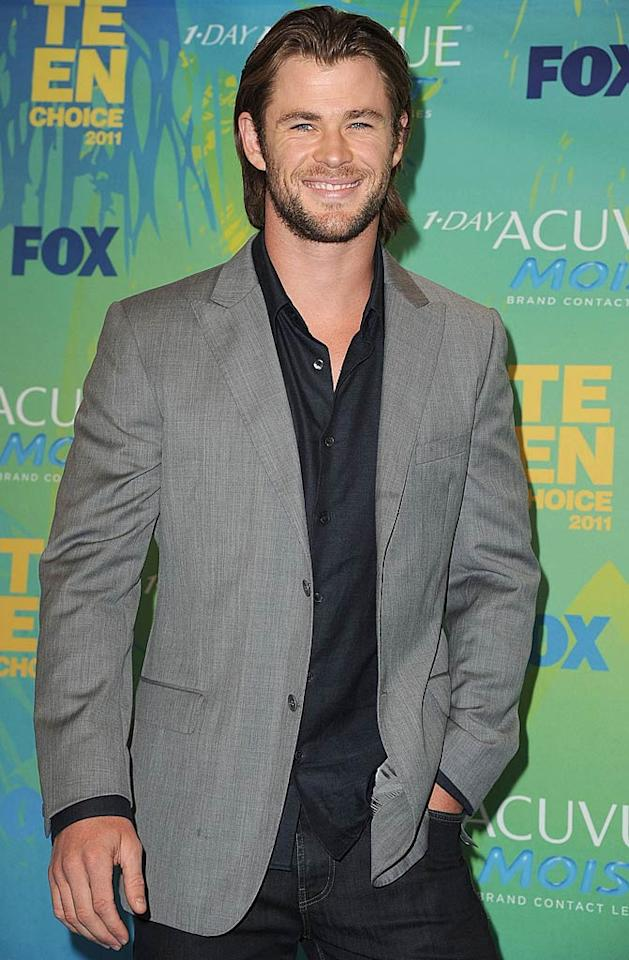 "Chris Hemsworth (""Thor"") turns 28. Steve Granitz/<a href=""http://www.wireimage.com"" target=""new"">WireImage.com</a> - August 7, 2011"