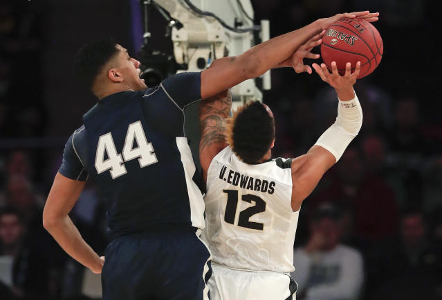 Penn State will have a long eight-day wait until Selection Sunday after falling to Purdue in the Big Ten semifinals. (AP)