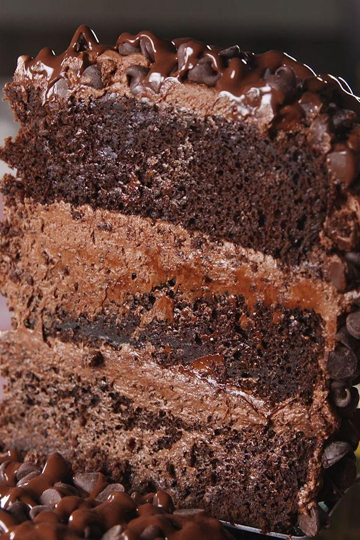 """<p>You'll think you've died and gone to heaven.</p><p>Get the recipe from <a href=""""https://www.delish.com/cooking/recipe-ideas/recipes/a54546/death-by-chocolate-cake-recipe/"""" rel=""""nofollow noopener"""" target=""""_blank"""" data-ylk=""""slk:Delish"""" class=""""link rapid-noclick-resp"""">Delish</a>.</p>"""