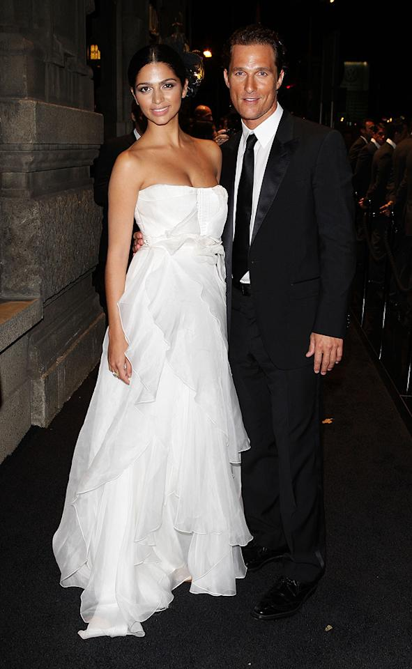 "Camilla Alves and <a href=""http://movies.yahoo.com/movie/contributor/1800018907"">Matthew McConaughey</a> at the Dolce and Gabbana ""Golden Age"" event in Milan - 09/25/2008"