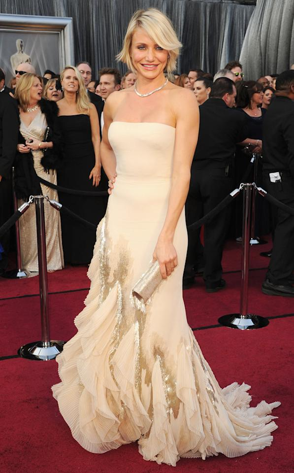 Cameron Diaz arrives at the 84th Annual Academy Awards in Hollywood, CA.