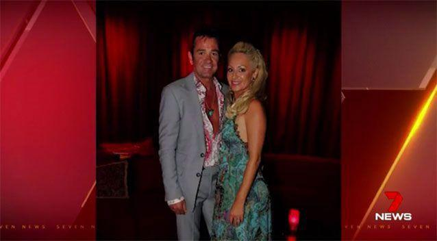 Darren, pictured with his ex-wife, was reportedly being chased by debt collectors. Source: 7 News