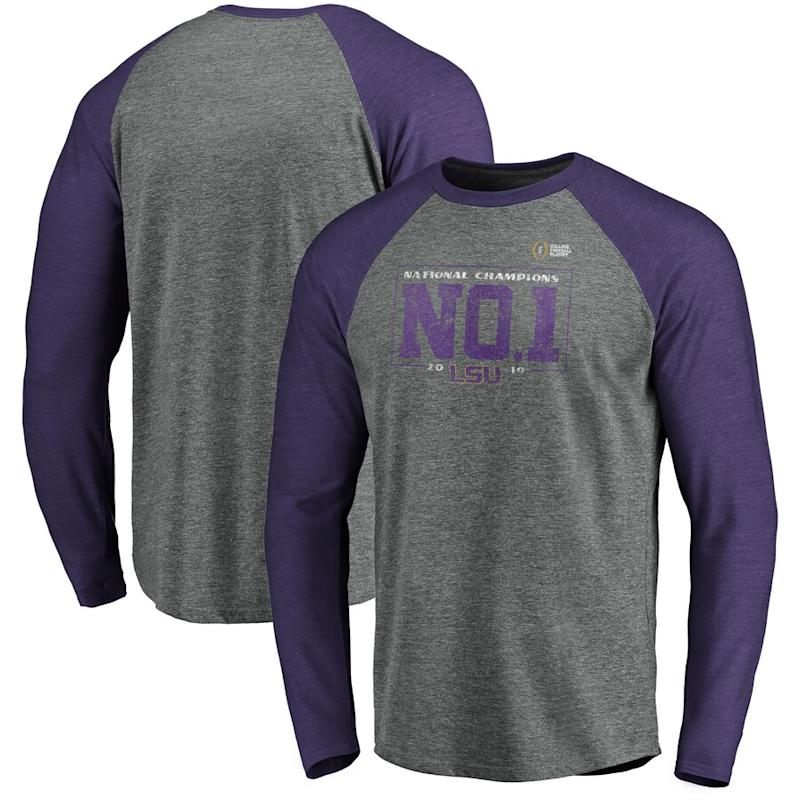 LSU College Football Playoff 2019 National Champions Long Sleeve T-Shirt