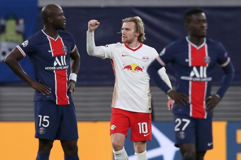 Emil Forsberg's penalty gave RB Leipzig a 2-1 win over last season's runners-up Paris Saint-Germain in their Champions League clash in Germany