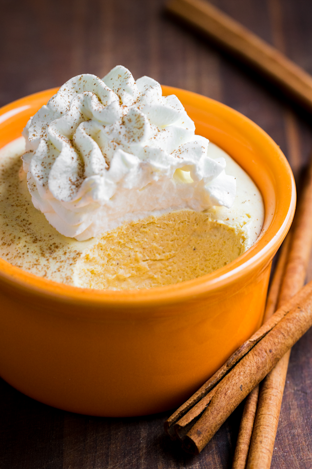 "<p>It's delish and super-easy to whip up. What more can you ask of any pumpkin season dessert? Serve in pretty glass or pumpkin-shaped bowls.<br></p><p><a class=""body-btn-link"" href=""https://natashaskitchen.com/pumpkin-mousse-recipe/"" target=""_blank"">GET THE RECIPE</a></p>"