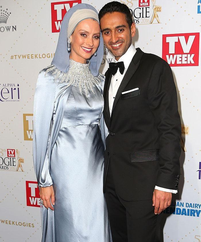 Waleed Aly and his wife, Dr. Susan Carland, at the Logie Awards in Melbourne earlier this month. Photo: Getty Images