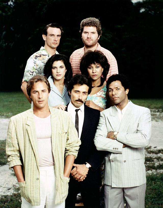 "<p><strong>Original run: </strong><span>1984-1990, NBC</span><br><strong>Reboot status: </strong><span>The '80s drama following two undercover detectives (Don Johnson, Phillip Michael Thomas) was a smash hit for NBC. Now <a href=""https://www.yahoo.com/tv/miami-vice-reboot-works-nbc-vin-diesel-production-183042526.html"" data-ylk=""slk:Vin Diesel's production company;outcm:mb_qualified_link;_E:mb_qualified_link"" class=""link rapid-noclick-resp newsroom-embed-article"">Vin Diesel's production company</a> is spearheading an NBC reboot, which is in development for the 2018-2019 television season. </span><br> (Photo: Everett Collection) </p>"