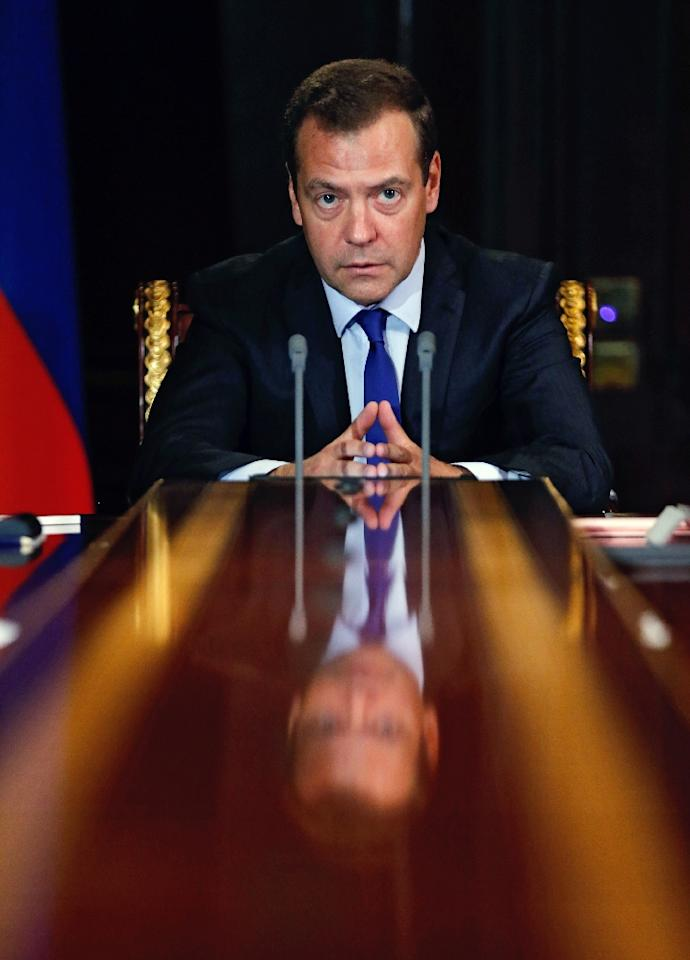 Russian Prime Minister Dmitry Medvedev said the Paralympic ban constituted a 'cynical' attempt by rivals to remove strong competitors from the Games (AFP Photo/Dmitry Astakhov)