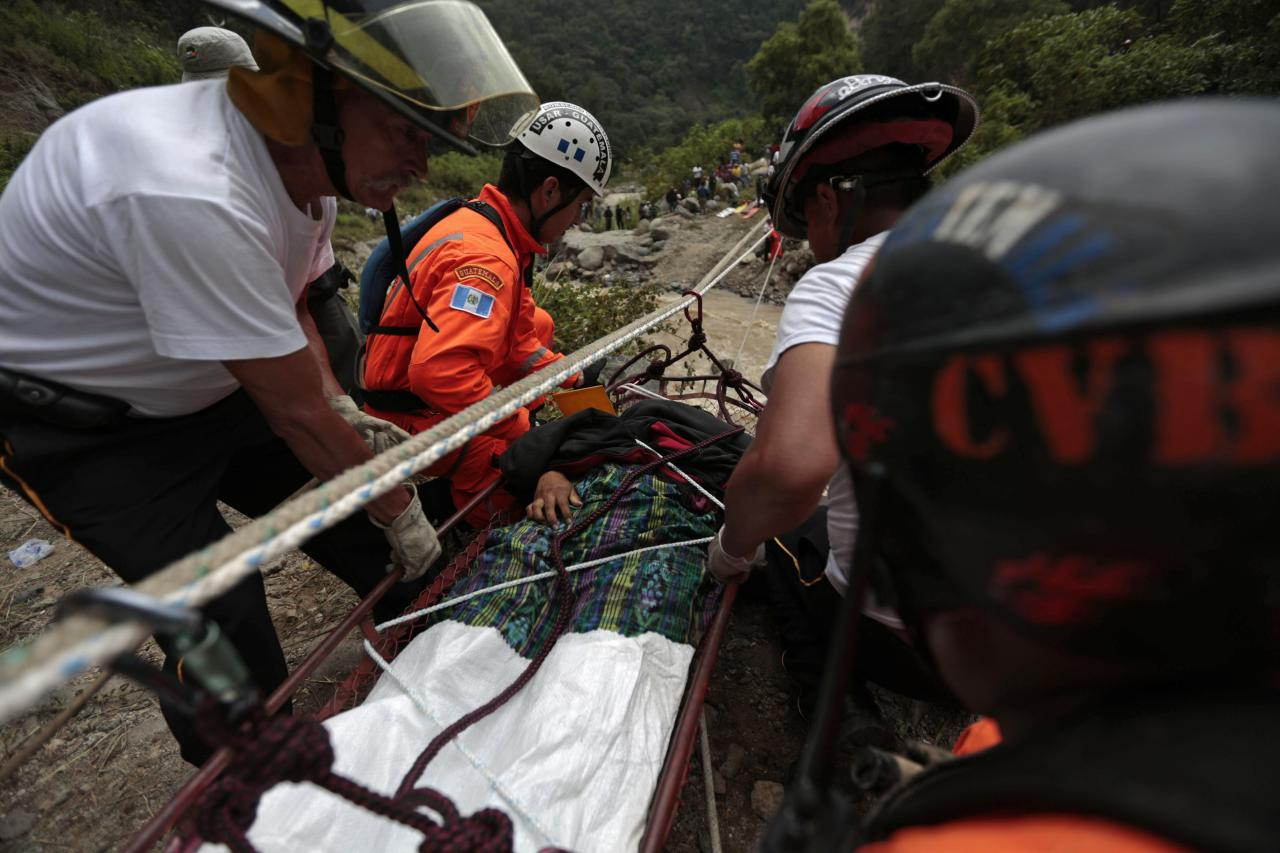 150 Meters Into Feet Guatemalan Bus Plunges Off Cliff