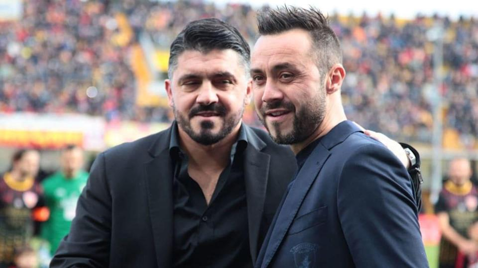 Gattuso e De Zerbi | CARLO HERMANN/Getty Images