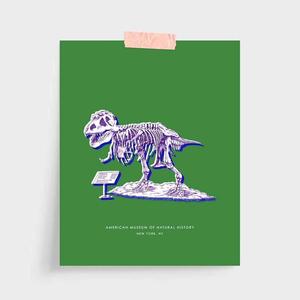 <p>We're a Brooklyn family now, but we had to have some traces of Manhattan throughout our space. This <span>Katie Kime New York Dinosaur Print 8x10</span> ($18) adds a playful piece of the Upper West Side's American Museum of Natural History to the kitchen. </p>