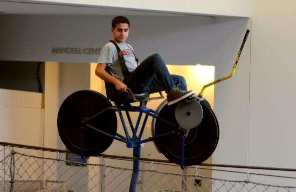 SkyBike at Franklin Institute