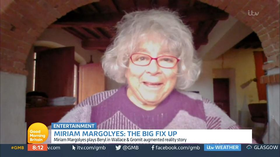 Miriam Margolyes appears on Good Morning Britain (Photo: ITV/Shutterstock)
