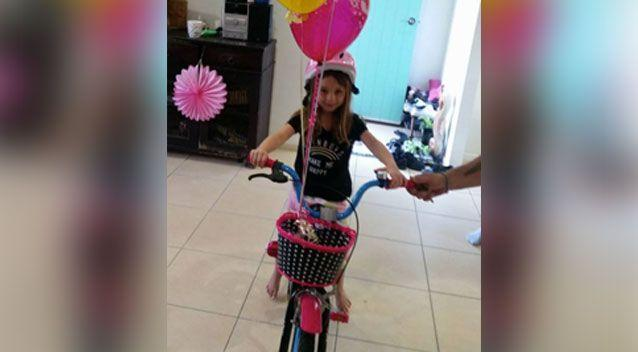 A bicycle given to Havana for her birthday helped spark a devastating cancer diagnosis. Photo: Supplied