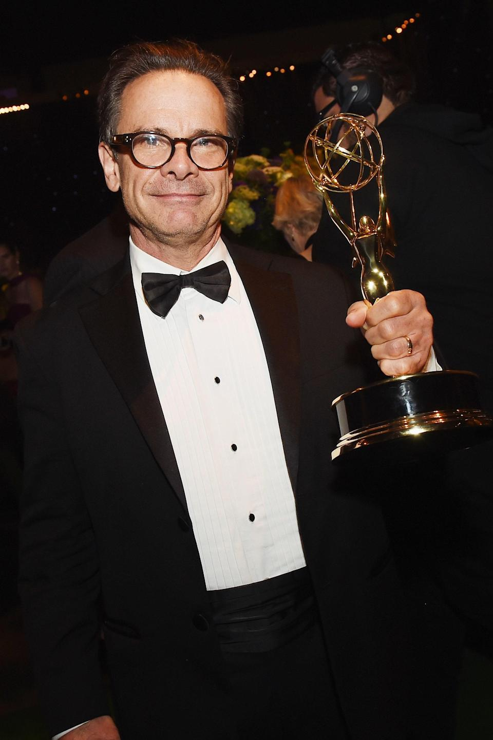 LOS ANGELES, CA - SEPTEMBER 18:  Actor Peter Scolari, winner of Outstanding Guest Actor in a Comedy Series for 'Girls,' attends the 68th Annual Primetime Emmy Awards Governors Ball at Microsoft Theater on September 18, 2016 in Los Angeles, California.  (Photo by Kevin Winter/Getty Images)