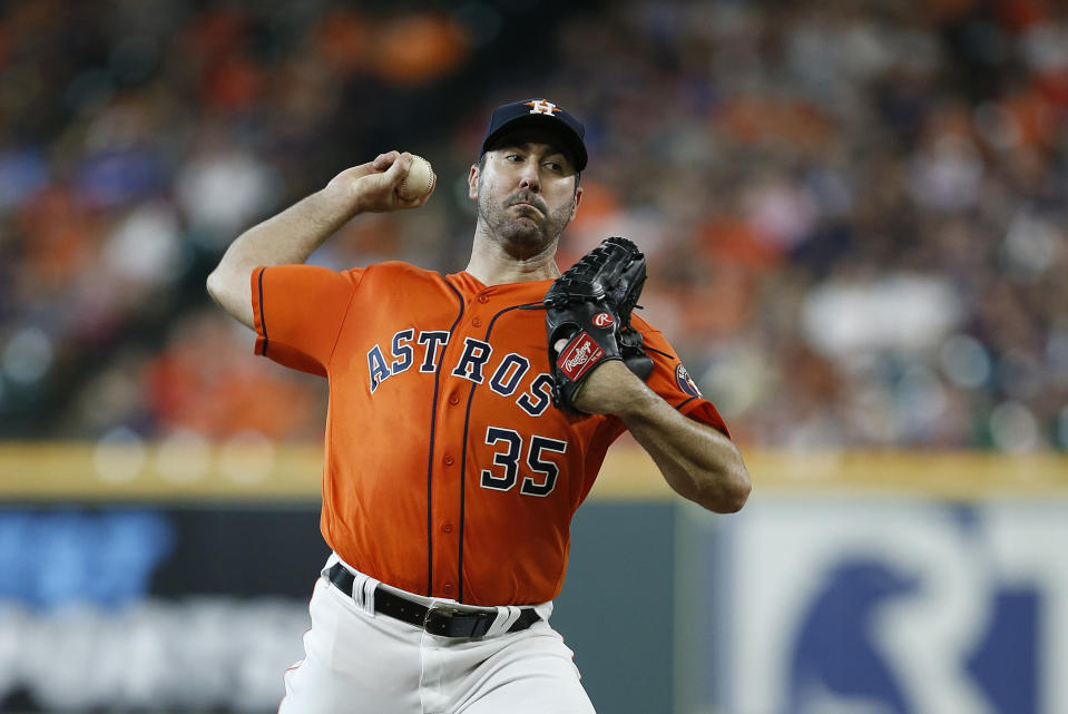 Justin Verlander has been phenomenal again this year, but it might be time to sell the ace ahead of the fantasy trade deadline. (Photo by Bob Levey/Getty Images)