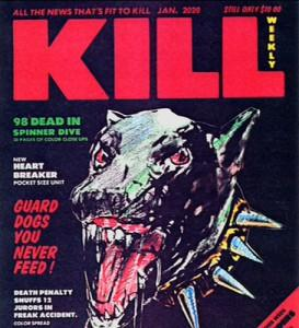 Mag with killer dog on the cover, titled