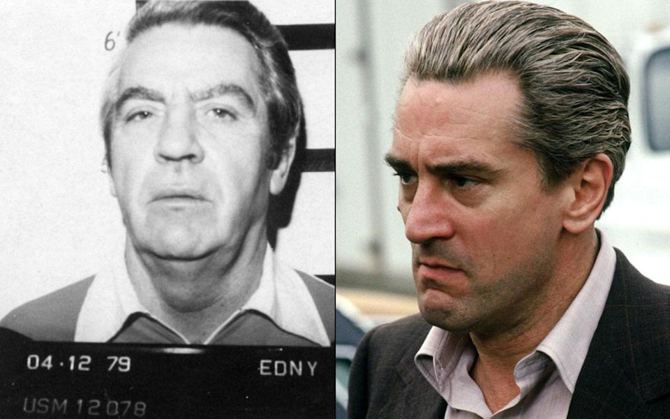 Robert De Niro's character was inspired by real life mobster Jimmy 'The Gent' Burke who advised on the film (Credit: Warner Bros)