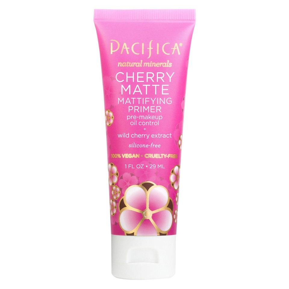 """<p>Some people might call primers a beauty hoax, but we're true believers. This new formula from Pacifica helps us keep the faith thanks to the cucumber and wild cherry extract, both of which help control oil production and mattify skin underneath your makeup.</p><br><br><strong>Pacifica</strong> Cherry Matte Multi-Mineral Primer, $12.99, available at <a href=""""https://www.target.com/p/pacifica-cherry-matte-multi-mineral-primer-1-fl-oz/-/A-52798867"""" rel=""""nofollow noopener"""" target=""""_blank"""" data-ylk=""""slk:Target"""" class=""""link rapid-noclick-resp"""">Target</a>"""