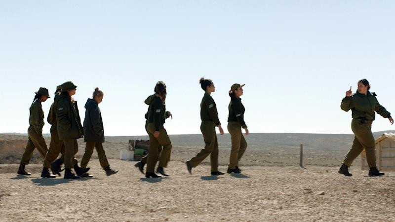 "This image released by the Tribeca Film Festival shows a scene from the film, ""Zero Motivation."" The film, about young female soldiers at a remote desert base in Israel, won best narrative feature at the Tribeca Film Festival in New York on Thursday, April 24, 2014. (AP Photo/Tribeca Film Festival)"