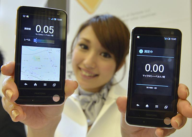 Cell phones monitoring radiation to sell in Japan