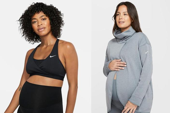 Nike's new maternity line launched on Thursday.