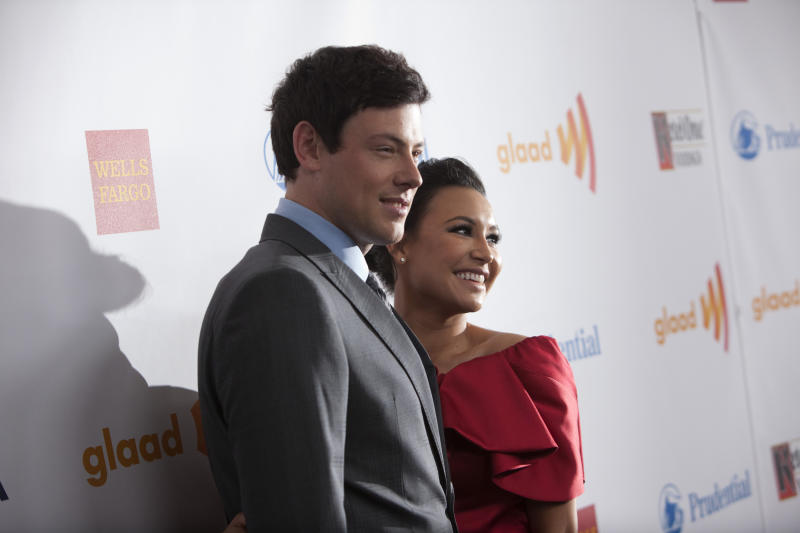 Naya Rivera's body was found on the anniversary of Cory Monteith's death. Here they are at the GLAAD Awards in 2012.