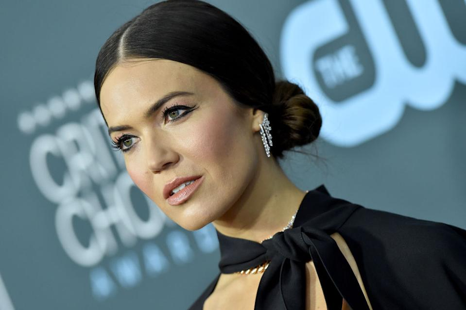 Mandy Moore has revealed she suffered from sickness and lost weight during her first trimester of pregnancy, pictured here in January 2020. (Getty Images)