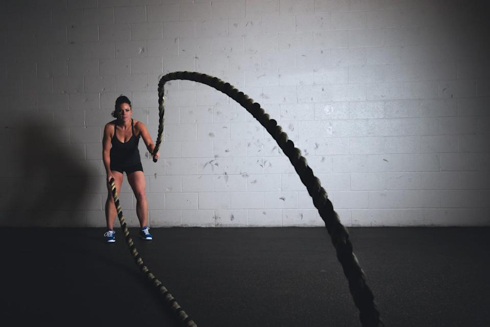"""<p>""""<a href=""""https://www.popsugar.com/fitness/HIIT-Workout-Weight-Loss-43627997"""" class=""""link rapid-noclick-resp"""" rel=""""nofollow noopener"""" target=""""_blank"""" data-ylk=""""slk:High-intensity interval training burns more calories in less time"""">High-intensity interval training burns more calories in less time</a>,"""" Moretti said. What's more, past studies have found (like one published in the journal <strong>Metabolism Clinical and Experimental</strong>) that <a href=""""https://www.metabolismjournal.com/article/0026-0495(94)90259-3/pdf"""" class=""""link rapid-noclick-resp"""" rel=""""nofollow noopener"""" target=""""_blank"""" data-ylk=""""slk:your metabolism can stay elevated for hours after a 20-minute HIIT session"""">your metabolism can stay elevated for hours after a 20-minute HIIT session</a>, he added. <a href=""""https://www.popsugar.com/fitness/HIIT-Bodyweight-Workout-44146224"""" class=""""link rapid-noclick-resp"""" rel=""""nofollow noopener"""" target=""""_blank"""" data-ylk=""""slk:Try this 20-minute HIIT workout to get started"""">Try this 20-minute HIIT workout to get started</a>. </p>"""