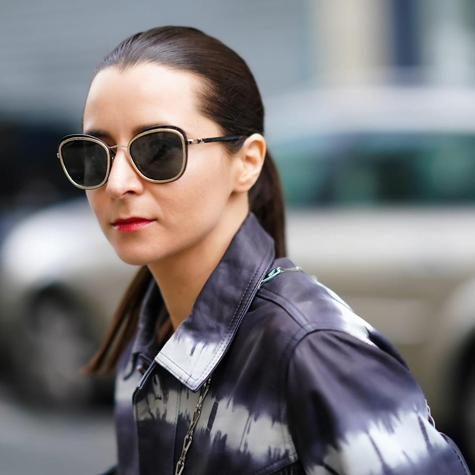 <p>The cat-eye shape is blown-up and as retro as ever, with a hint of '70s flair. These have more of a vintage aesthetic (think: Gloria Steinem opticals), rather than a mod bug eye.</p>