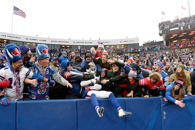The Buffalo Bills organization is taking steps to try to curb dangerous and embarrassing fan behavior while tailgating. (AP)