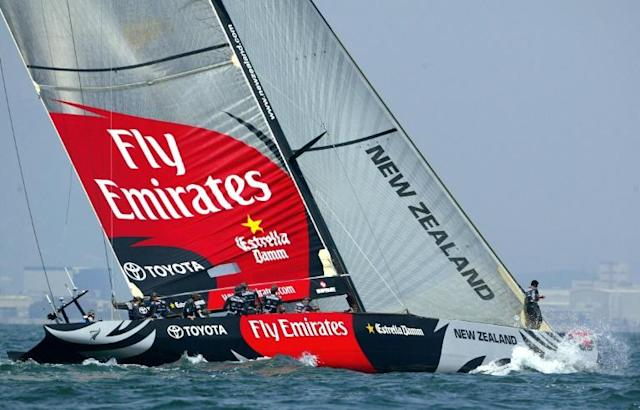 Team New Zealand's America's Cup preparations have been rocked by spying and fraud claims (AFP Photo/JAIME REINA)
