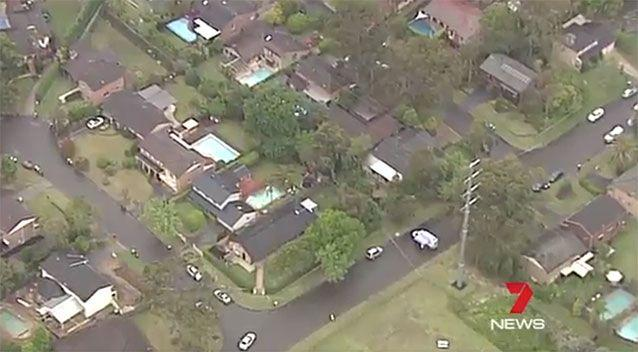 A crime scene was established by the home. Image: 7news