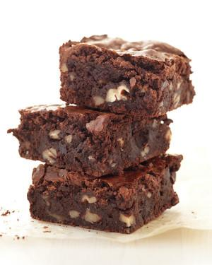 <p>If you're team fudgy over team cakey when it comes to brownies, this is the recipe for you. It's a double chocolate batter (cocoa powder and chocolate chips) that is absolutely to die for.</p>