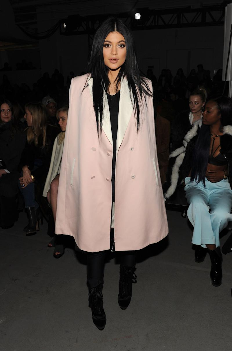 Kylie Jenner appeared front row at the 3.1 Phillip Lim show — wearing Phillip Lim, naturally — during New York Fashion Week Fall 2015 in New York, New York, February 2015.
