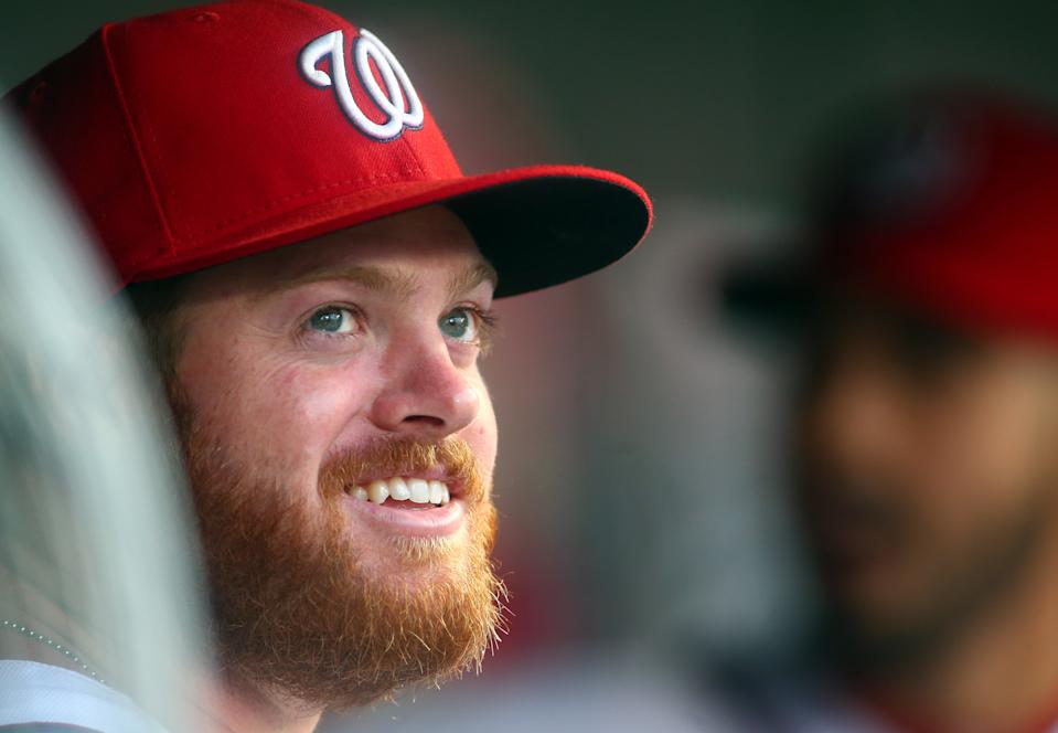 September 08 2014: Washington Nationals relief pitcher Aaron Barrett (30) during a MLB gameagainst the Atlanta Braves at Nationals Park, in Washington D.C. (Photo by Tony Quinn/Icon Sportswire/Corbis/Icon Sportswire via Getty Images)