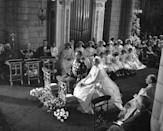 <p>The glamorous starlet and royal Prince celebrated their marriage in the Monaco cathedral. Kelly officially became Princess of Monaco on April 19th, 1956, when the couple walked down the aisle. They stayed together until her death in 1982. It was the sole marriage for both of them.</p>