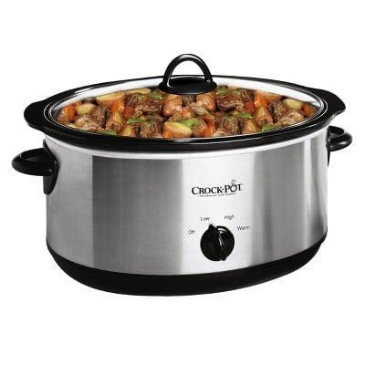 <p>The <span>Crock-Pot Manual Slow Cooker</span> ($31) is a true necessity and a timesaver.</p>