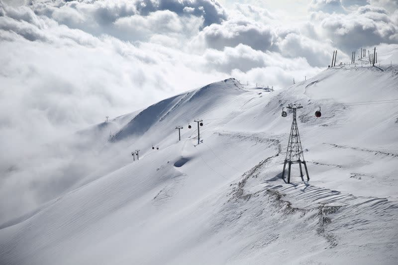 FILE PHOTO: A general view shows the Tochal ski resort, in north of Tehran
