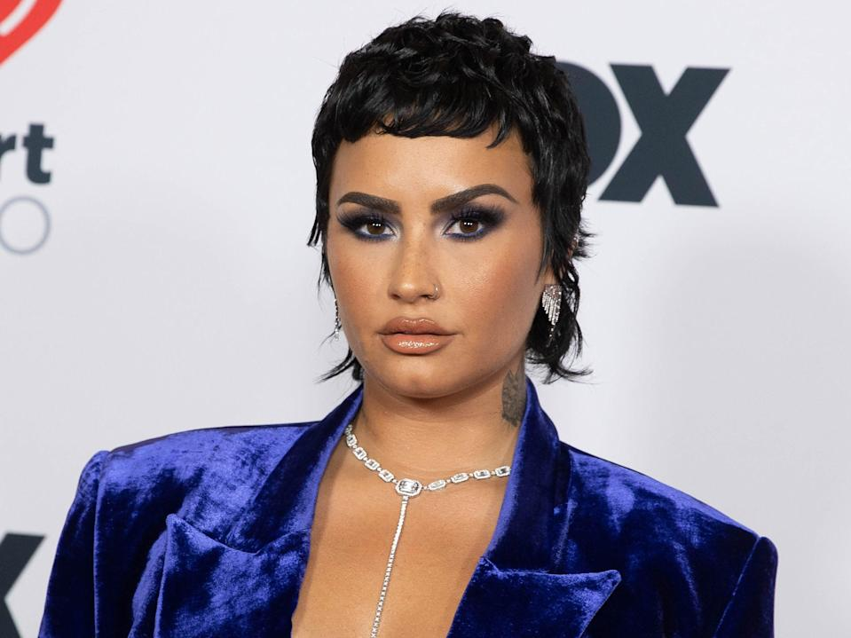 <p>Lovato in May 2021</p> (Getty Images for iHeartMedia)