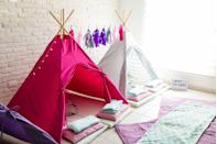 <p>After dinner is over and you've done the dishes, keep the holiday vibe going by building a blanket and pillow fort with the kids. Climb inside to read books or tell holiday stories together. Bring a plate of Christmas cookies in there to really make it on the nice list. </p>